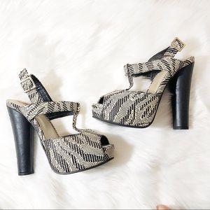 Black & Cream Heels. NWOB